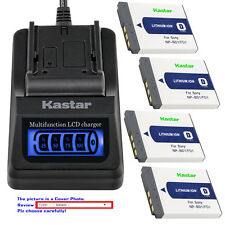 Kastar Battery LCD Quick Charger for Sony Original NP-BD1 NP-FD1 & BC-CS3 BC-CSD