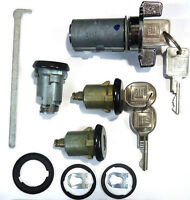 New GM Oldsmobile OEM Chrome/Black Ignition/Doors/Trunk Lock Key Cylinder W/Keys