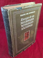Ensayo de un Diccionario Mitologico Universal por Sainz De Robles 1958 ilustrado
