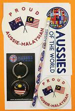 PROUD AUSSIE - MALAYSIAN GIFT AUSTRALIA KEYRING MAGNET STICKER MALAYSIA SOUVENIR