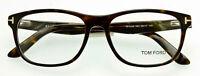 Authentic TOM FORD FT5430 052 Eyeglass Frame TF5430 052 Dark Havana Horn 56mm