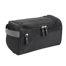 Travel Wash Bag Men Toiletry Organizer Shaving Cosmetic Case Waterproof Black