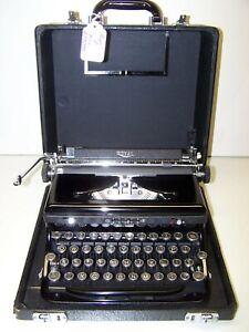 Antique 1938 Royal Model B Speed King Vintage Typewriter B-776948