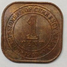 Commissioners of Currency Malaya 1 cent 1943 coin (A)