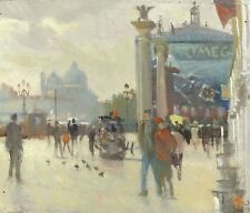 """NEW ORIGINAL MICHAEL RICHARDSON OIL """"Piazza Ducale"""" Venice Italy PAINTING"""