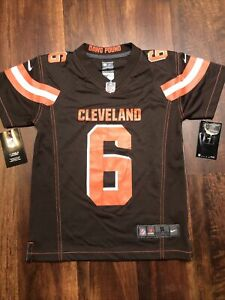 New Youth Nike Cleveland Browns Baker Mayfield #6 Jersey Size Kids Small Brown