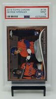 2014 Topps Chrome #138 Houston Astros GEORGE SPRINGER RC Rookie Card PSA 9 MINT
