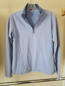 Patagonia small medium-blue gray Thermal weight 1/4 Zip base Shirt Top women's S