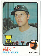 Carlton Fisk 1973 Topps Red Sox Trading Card #193- minor wear-very minor stain