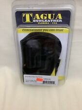 TAGUS HOLSTER CDH3-141 Right Handed Black Leather Taurus Cross Draw-Open Top