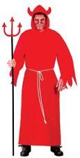 Costumi e travestimenti vestiti rossi per carnevale e teatro da uomo sul diavoli