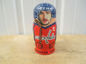 VINTAGE WASHINGTON CAPITALS RUSSIAN NESTING DOLLS OVECHKIN BACKSTROM GREEN