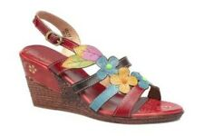 Laura Vita Velte Red leather Sandals UK 3 EU 36 LN14 81