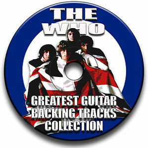 21 THE WHO STYLE ROCK GUITAR MP3 BACKING TRACKS CD ANTHOLOGY LIBRARY