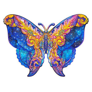 A4 Butterfly Shape Wooden Jigsaw Puzzles Fun Puzzle Game Pieces Kids Girls Gifts