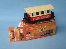 Lesney Matchbox 44 Steam Railway Passenger Coach Boxed Green Window
