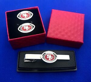 SF 49ers Tie Clip & SF 49ers Cufflinks San Francisco 49ers Football Gift