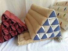 One Thai Triangle Cushion Floor Seat Indian Handmade Pillow