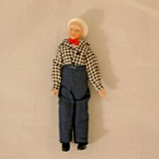 Dollhouse Miniature Doll Grandpa Country Porcelain Town Square #G7658