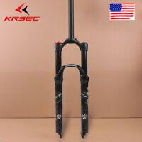 "KRSEC 1-1/8"" Mountain Bike Air  Shock Suspension Fork 26/27.5/29"" 120mm Travel"