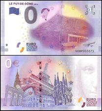 Zero - 0 Euro Europe, 2016 - 1 - 1st Print, UNC, Train, Le Puy-De-Dome in France