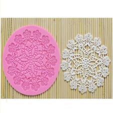 Round Lace Filigree Silicone Mold Fondant Mold Cake Cupcake Flower Embossing J