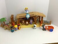 Fisher Price Little People Nativity Musical Lights Large Lot Animals Figures