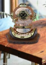 Mark Deep Sea Scuba Nautical Antique/Vintage Finish Brass Divers Diving Helmet