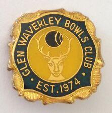 Glen Waverley Bowling Club Badge Pin Vintage Deer Design (L30)