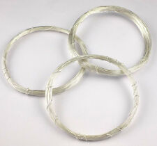 50 Feet 925 Sterling Silver Wrapping Wire Findings Round Wire 28 Gauge Jewelry