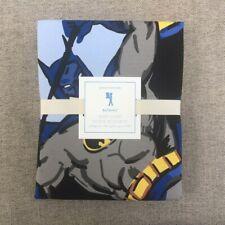 NEW Pottery barn kids Batman Queen Duvet Cover royal blue Superhero DC Comics