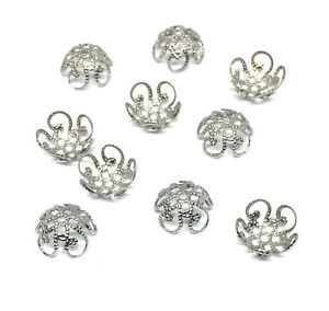stainless steel ornate filigree bead caps 10mm
