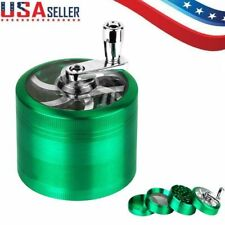 Tobacco Herb Grinder Spice Herbal Alloy Smoke Crusher 4 Layer Metal Hand Muller