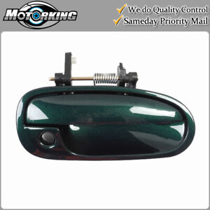 Exterior Door Handle Front Right for 96-00 Honda Civic G95P Clover Green Pearl