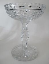 Large Hand Cut Glass compote crystal 8.5 lbs