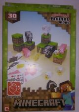 Minecraft Papercraft Animal Mobs Set Over 30 Pieces Pig Ocelot Sheep Chicken Cow