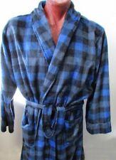 SALE NWT Chaps Robe Bathrobe Blue Plaid Plush One Size