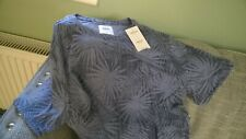 Burton Menswear T Shirt Top Leaf pattern Size S New with Tags RRP £15