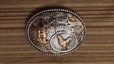 HOUSTON LIVESTOCK SHOW RODEO 2008 CHAMPION POULTRY BUYER BUCKLE FREE SHIPPING
