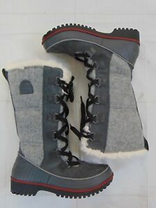 Sorel Tivoli High Women's Boots Size 7 Gray Fur Lined UK 5 EUR 38