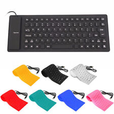 Portable 85Key Keyboard Silicone Waterproof Flexible Foldable for PC Laptop