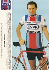 CYCLISME carte cycliste PIERRE BAZZO équipe COOP HONVED ROSSIN 1984