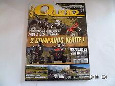 QUAD PASSION MAGAZINE N°101 11/2008 TGB BLADE 525 SE TRX700XX VS 700 RAPTOR   G2
