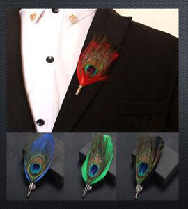 Revers-Pin ´ S Pfau Piuma Spilla Anzug-Pin Reversenadel Pin Matrimonio Bottoni