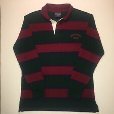 Vintage Polo Sport Ralph Lauren Striped Spellout Long Sleeve Rugby Shirt Mens XL