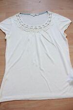 BODEN  Ivory Grecian Short Sleeve Top size 8R NEW WL723 summer