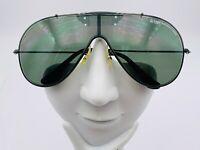 Vintage Wings Ray Ban Bausch & Lomb Black Metal Aviator Shield Sunglasses Frames