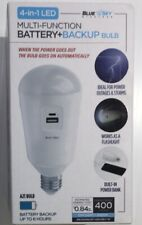 Blue Sky 60405 WIRELESS InstaLight 5000k Daylight LED Bulb + Battery Backup