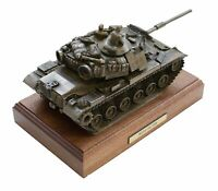 M60A1 Patton Tank Cold Cast Bronze Military Statue