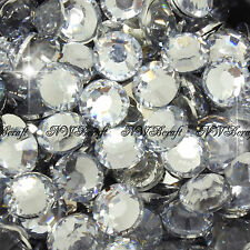 1000 X Top Quality Resin Flat Back Rhinestones Diamante Gems for Nail Art Crafts Clear 6mm
